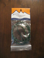 Fly Tying Woven Body Tubing Pearl Black Small