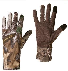 L/XL Men's Realtree XTRA TOUCH SCREEN LightWeight Gloves Camo Winter Shooting