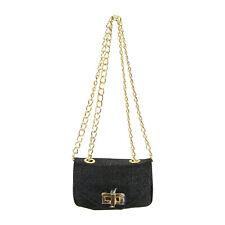 Pietro Alessandro Black Stingray Print Crossbody Clutch Mini Handbag
