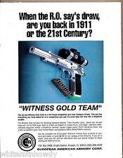 1992 WITNESS GOLD TEAM Pistol Tanfoglio Italy European American Armory EAA AD
