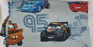 """Disney Pixar Cars Lightning McQueen Bed Sheet Twin Size Flat Sheet (66"""" x 96"""")"""