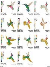 Hummingbirds2 11 large embroidery machine designs on CD, Multi Formats available