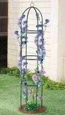 6 Foot Green Metal Trellis Flowers Climbing Vines Plants Garden Stake Yard Decor