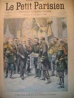 RUSSIE MAIRE ST-PETERSBOURG WASHINGTON ROCHAMBEAU JOURNAL LE PETIT PARISIEN 1902