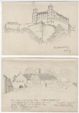 [Anonymus]: EICHSTÄTT / WILLIBALDSBURG: 4 Bleistift-Zeichnungen, 1928/29