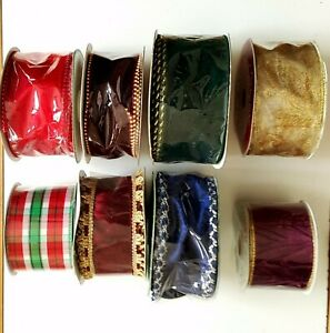 "WIRED RIBBONS FOR CHRISTNAS, WEDDING1.5""W to 3""W, 3YDS to 50YDS VARIETY NEW"