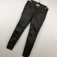 """Current Elliot 25 The Ankle Skinny Gray Coated Jeans Stretch 30"""" Inseam Slim P*"""