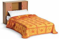 """American Girl Doll Melodys Bed & Bedding Pillow Brown/Orange Bedspread 18"""" DKH85"""