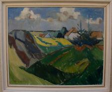 Arnold William Pedersen 1912-1986, Rapsfeld beim Dorf, um 1950