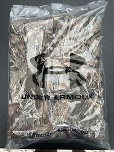 NWT $74.99 Under Armour Mens CG Storm Icon Camo Hoodie Mossy Oak Size XL