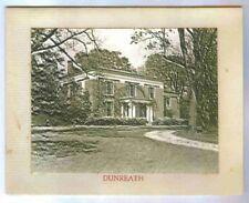 Dunreath Estate,Home Of Mr & Mrs Roger Williams Jr & Roger Iii Vintage Xmas Card