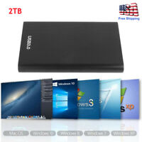 "Portable USB 3.0 2TB External Hard Drive Disks SATA HDD 2.5"" Fit For PC Laptop S"