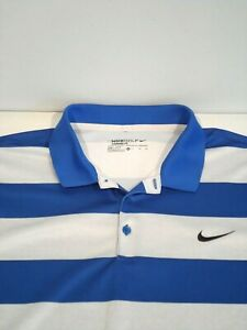 Nike Mens Victory Bold Stripe Golf Shirt Size XL Top of the Rock Polo 725516-480