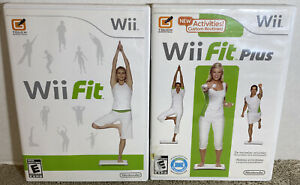 Nintendo Wii Fit And Wii Fit Plus Game Bundle Lot
