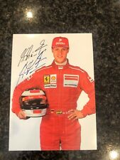 F1 Michael Schumacher Autograph Card Postcard Hand Signed TWICE RARE!!!!