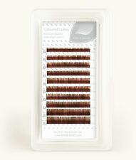Brown Cocktail Colour Volume Lashes Individual Eyelash Extensions, C, Mix 0.07