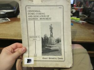 VERY RARE Homecoming EAST SPARTA OHIO Picture Photo History Book Houses Business