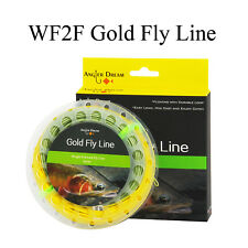 WF2F Gold Fly Fishing Line Weight ForwardFloating Fly Line & 2 Welded Loop