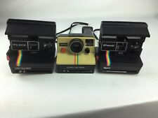 Lot of 3 Polaroid 600 Film Instant Cameras One Step Land spirit untested