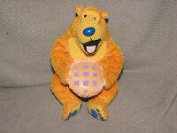FISHER PRICE BEAR IN THE BIG BLUE HOUSE STUFFED PLUSH STAR BEAN TOY WITH PIE 6""