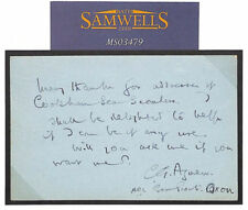 GB Card SCOUTING Wallis Correspondence COOKHAM SEA SCOUTS Henley 1937  MS3479