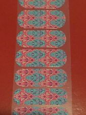 Jamberry Nail Wrap Half Sheet - Retired - Faded Deco - Red and Blue