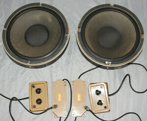 """One Owner Vintage Tannoy Monitor Gold 12"""" Dual Concentric LSU HF/12/8 with xover"""