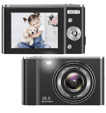 HD Digital Camera, 1080P Vlogging LCD Mini Camera with 16X Zoom 36MP