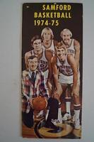 Vintage Basketball Media Press Guide Samford University 1974 1975