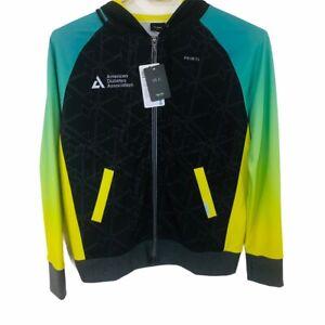 Primal Wear Happy Trails Full Zip ADA Graphic Cycling Jersey Hoodie Black Sz 2XL