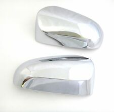 CHROME LEFT+RIGHT SIDE MIRROR COVER TRIM FOR TOYOTA YARIS 5 DOOR HATCHBACK 2014