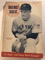 1945 Baseball Digest NEW YORK Yankees HANK BOROWY No Label HAPPY CHANDLER Landis