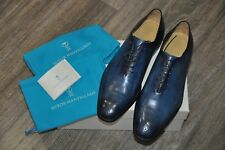 Authentic New Sutor Mantellassi Blue Leather Lace-Up Shoes,UK10.5/US11.5