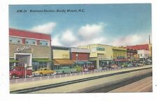 ROCKY MOUNT NC  Business Section, Store Fronts and Automobiles