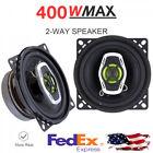 2Pcs 400W Car Speaker Audio Music Stereo Full Range Loudspeaker 4 Inch Universal photo