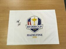 RYDER CUP GOLF FLAG 2016 HAZELTINE SIGNED BY MATTHEW FITZPATRICK COMES WITH COA