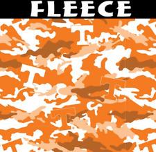 NCAA University of Tennessee Camo TEN-820 Fleece Fabric by the Yard