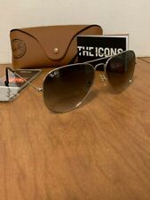 Ray-Ban Sunglasses Aviator Silver Frame Grey Gradient Lens RB3026 003/32 62mm