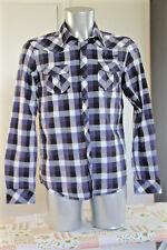 KAPORAL kohan jolie chemise country bleue à carreaux Taille M EXCELLENT ÉTAT