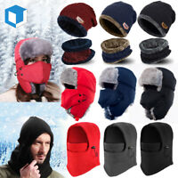 Men Women Warm Beanie Skull Cap Winter Hat Nick Full Face Mask Russian Hat Scarf
