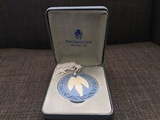 Wedgewood Jasper Blue Angel Christmas Ornament With Tassel And Box England