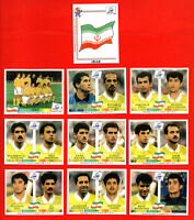 PANINI WC FRANCE 98  - Complete IRAN team EXTRASTICKERS - copy