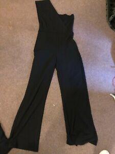 Black one shoulder jumpsuit Size 12