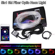 RGB LED Strips Car Auto Interior Atmosphere Light Bluetooth Phone App Control 6M
