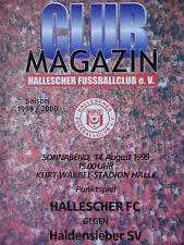 Programm 1999/00 HFC Hallescher FC - Haldensleber SV