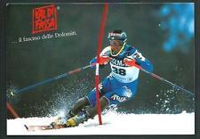 Angelo Weiss (Squadra Nazionale Sci Alpino ) - Val di Fassa - cartolina anni '90