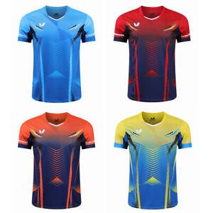 Men Short sleeve Badminton T-Shirts table tennis clothes Polyester Sport Tops