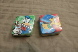 NEW 2 Disney Christmas Donald Duck Pluto Candycanes Magic Towels Face Cloth/Wash