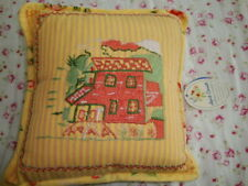 April Cornell New Yellow Rose Mini Pillow Cushion RARE Vintage Romantic Princess
