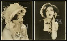 NORMA TALMADGE CONSTANCE Mode Glamour Fashion EDWIN BOWER HESSER 2 PHOTOS 1920s